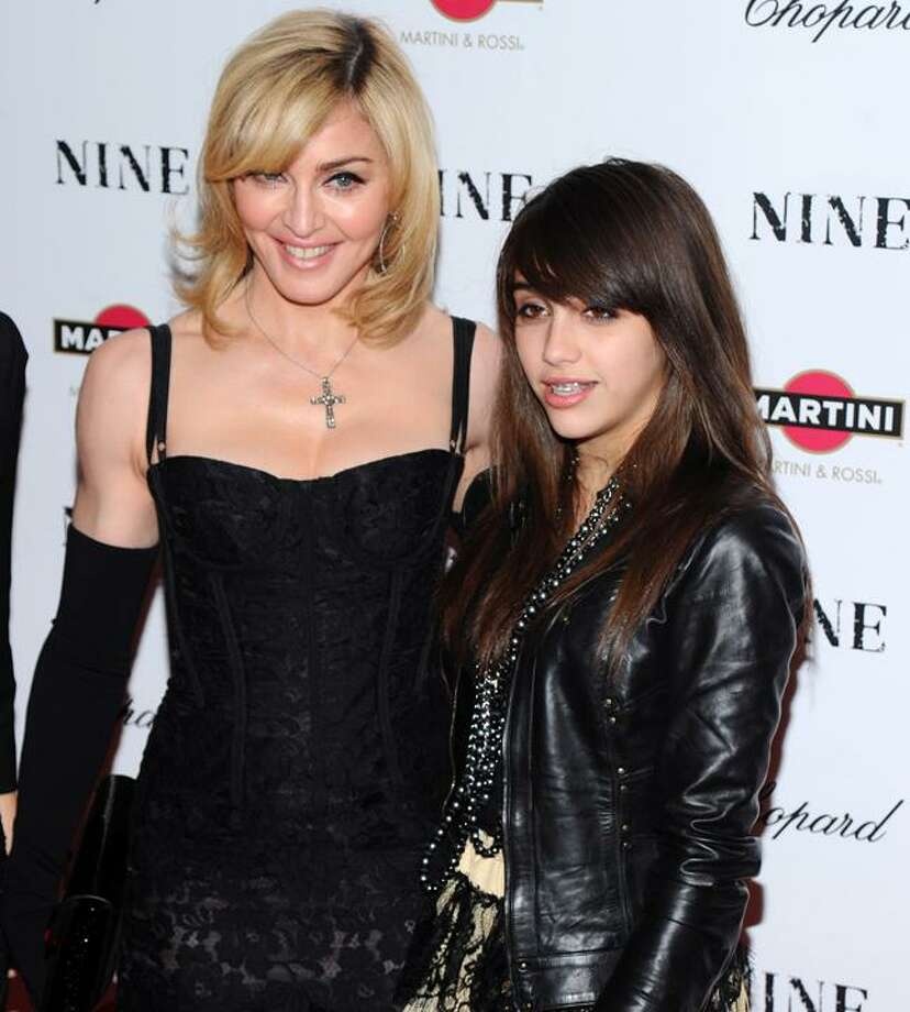 "In this Dec. 15, 2009, file photo, Madonna and her daughter Lourdes Leon attends the premiere of ""Nine"" at the Ziegfeld Theatre in New York. (AP) Photo: AP / AP2009"