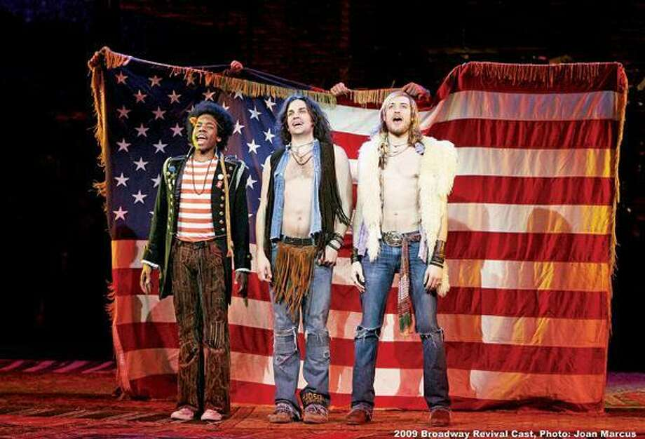 "Many cast members from this 2009 Tony Award-winning Broadway revival of ""Hair,"" as well as London's, are part of the show's new national tour, opening Friday. Joan Marcus photo"