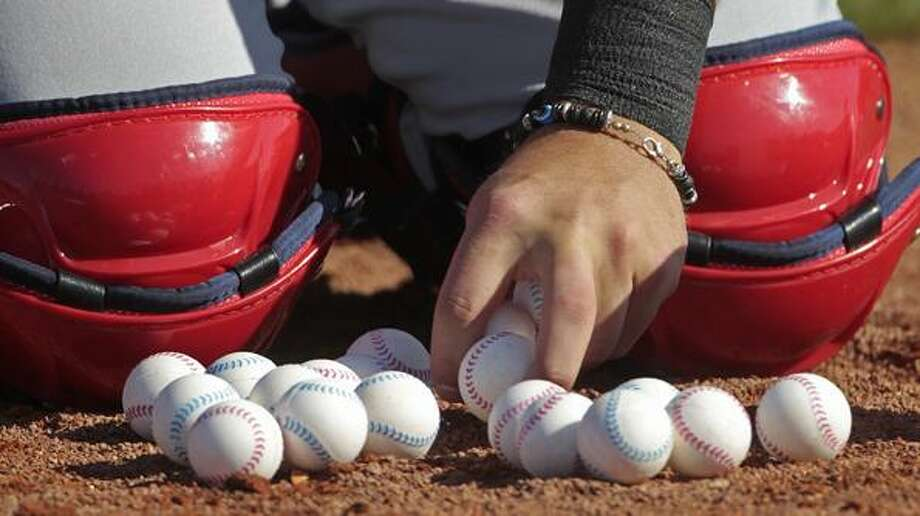 at the Boston Red Sox player development complex in Fort Myers, Fla., Tuesday, Feb. 15, 2011. It was the first official baseball spring training workout for pitchers and catchers.  (AP Photo/Dave Martin)