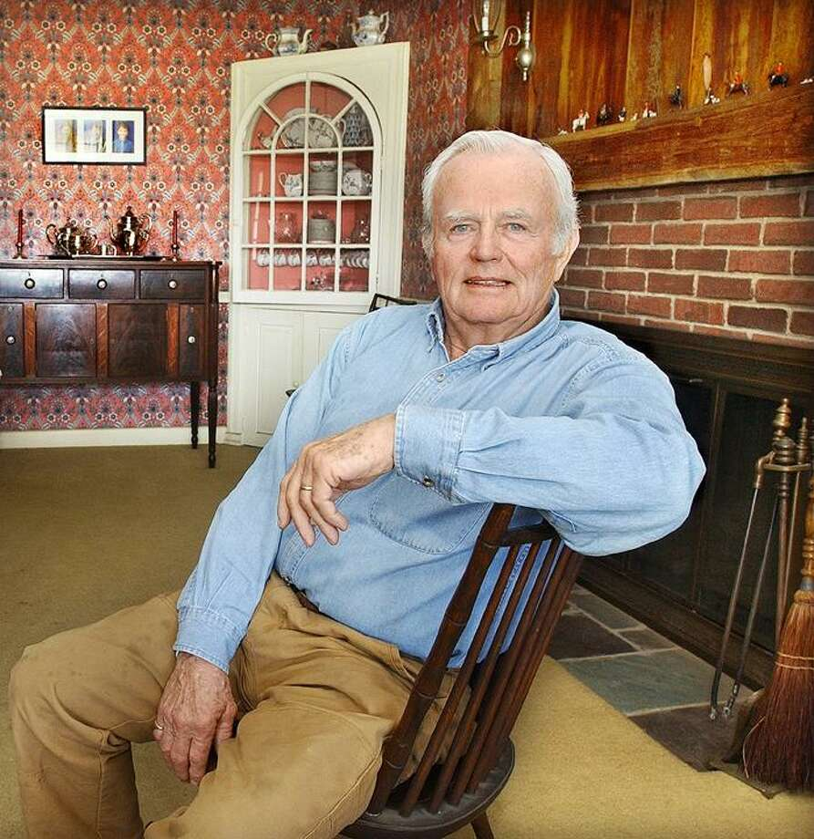 Durham resident Ralph W. Chase Jr. is the recipient of the Durham/Middlefield Exchange Club Book of Golden Deeds Award Thursday evening. Chase is seen in his home Friday. (Catherine Avalone