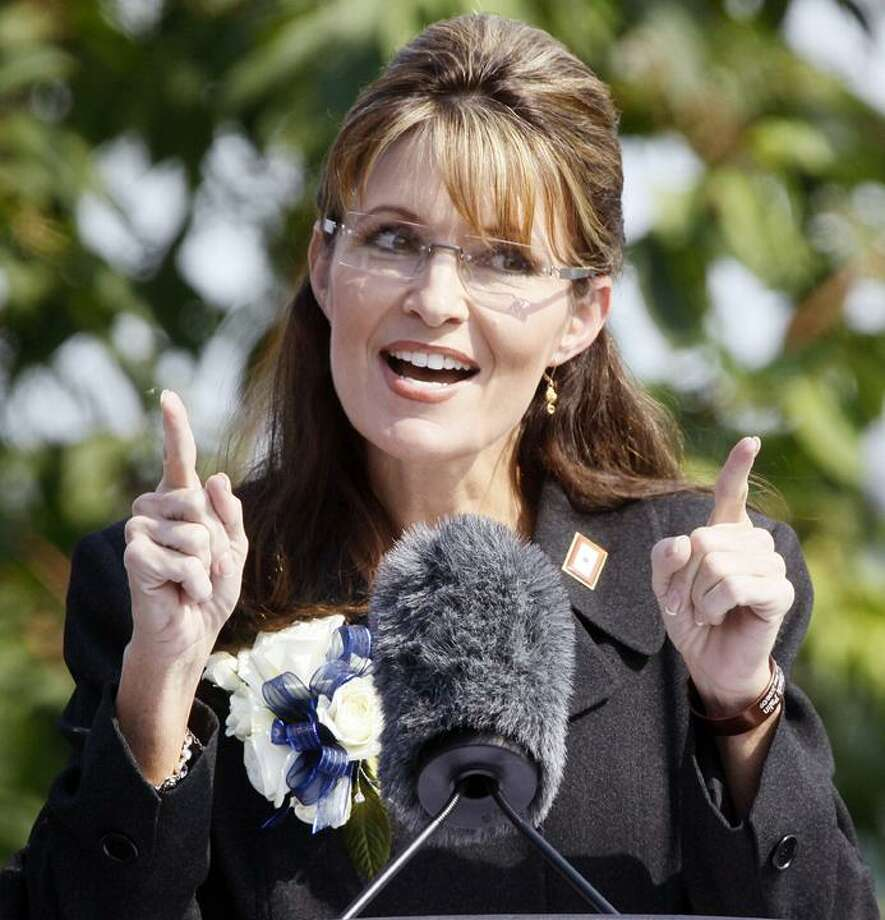 In this July 26, 2009, file photo, Alaska Gov. Sarah Palin gives her resignation speech during a ceremony in Fairbanks, Alaska. (AP)