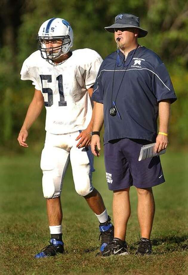 Middletown High School Athletic Director Michael Pitruzzello announced the 2010 assistant coaches to aide head coach  Eric Marzalek in the 2010 season. Assistant coach Alexander Tucci was not brought back. (Catherine Avalone / The Middletown Press)