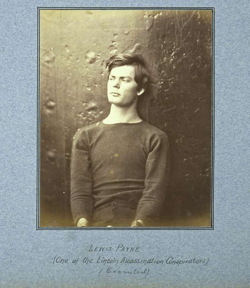 This 1865 photo provided by the George Eastman House shows Alexander Gardner's portrait of Lewis Payne, one of the conspirators in the assassination of Abraham Lincoln, before his execution. The albumen print, part of a Union officer's album illustrating the assassination plot, is on display with other Civil War-era photographs at the George Eastman House in Rochester, N.Y., through June 12, 2011. (AP Photo/George Eastman House, Alexander Gardner) Photo: AP / George Eastman House