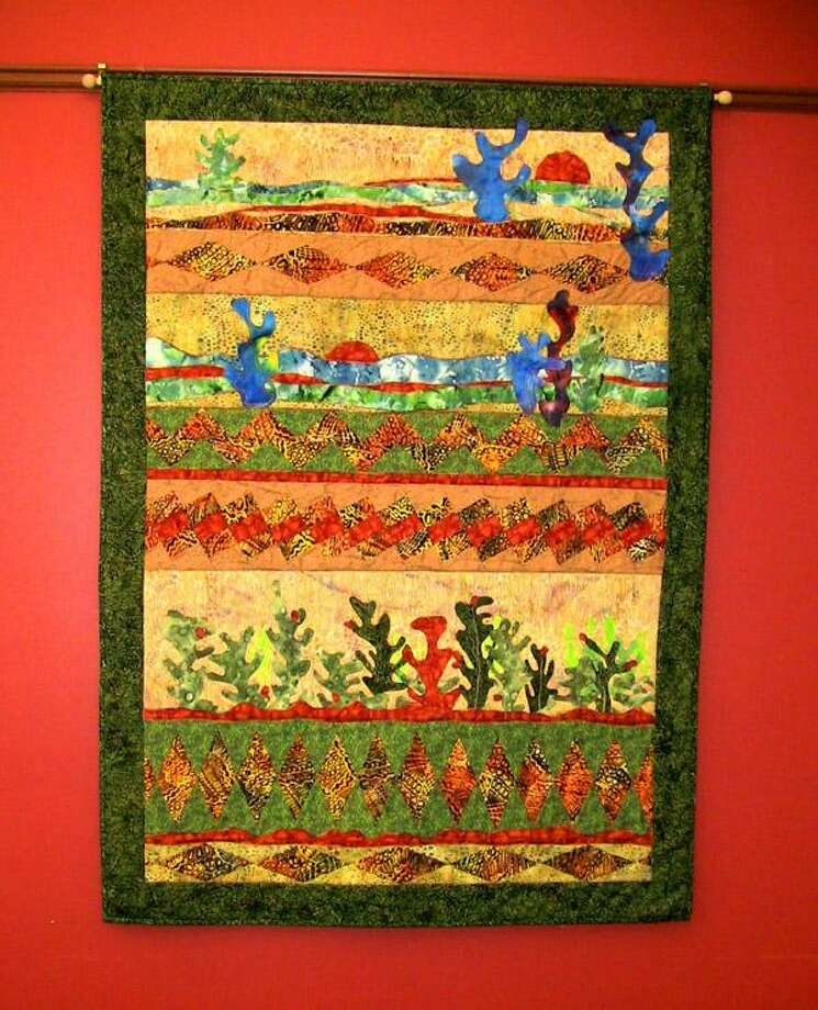 A quilt made by Nel Udo. The artist's quilts will be on display at Essex Library during the month of July.