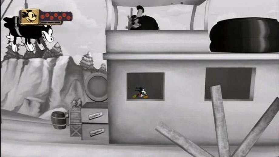"In this video game image released by Disney Interactive, a scene is shown from ""Steamboat Willie."" (AP) Photo: AP / Disney Interactive"