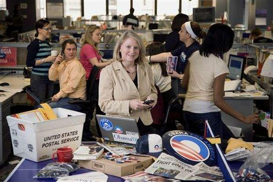 (AP) This photo provided by Chris Lake, taken May 16, 2008, in Chicago, shows incoming White House Social Secretary Julianna Smoot. Photo: AP / Chris Lake