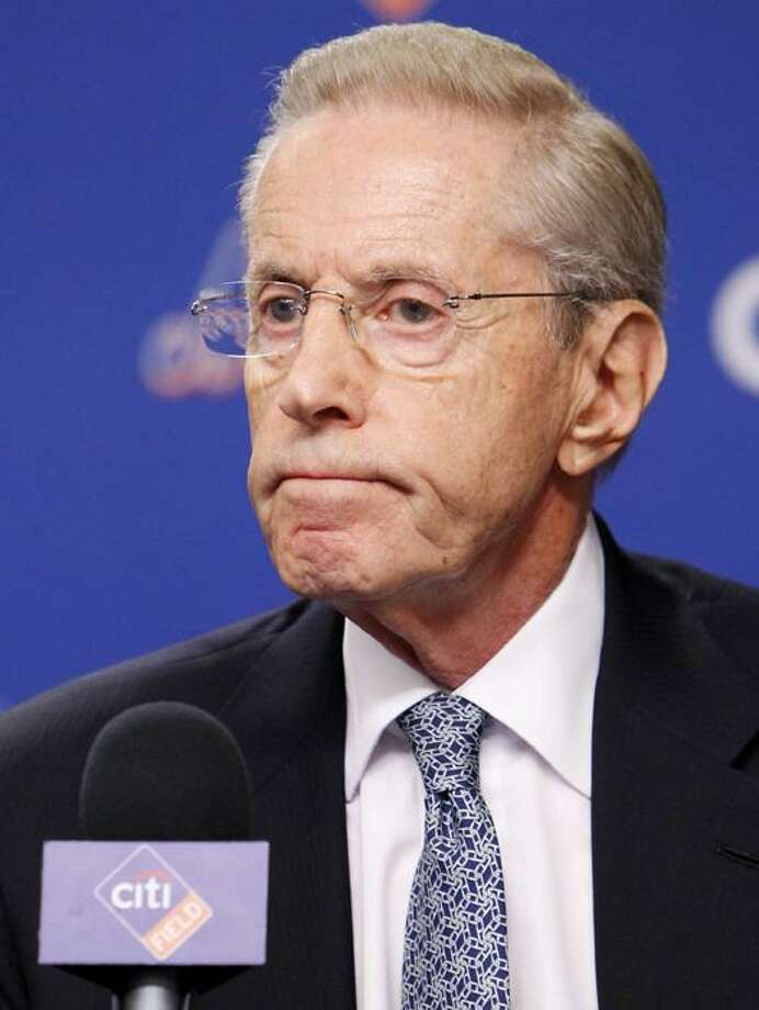 New York Mets owner and CEO Fred Wilpon speaks to the media during a news conference Monday at Citi Field in New York. The New York Mets fired manager Jerry Manuel and general manager Omar Minaya on Monday, an expected shake-up of the big-spending ballclub after its second straight losing season. The Mets said a search is under way for a new GM, who will work with the team to hire a new manager. (AP Photo/Seth Wenig) Photo: AP / AP