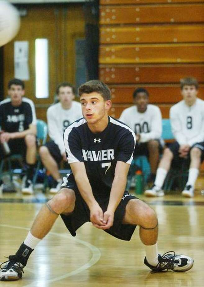 Xavier's Ryan Love during game four of the Class L quarterfinals June 4th. Xavier defeated Ridgefield to advance in the CIAC tournament. (Catherine Avalone / The Middletown Press)