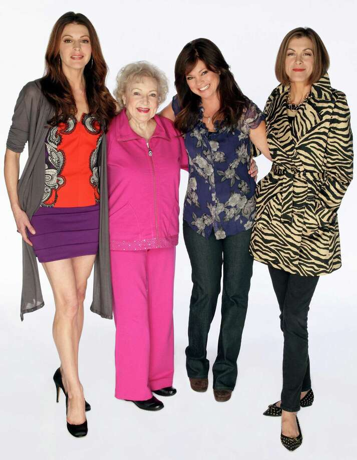 """Cast photo from the pilot episode of TV Land's first original scripted sitcom series """"Hot in Cleveland,"""" starring, from left to right, Jane Leeves, Betty White, Valerie Bertinelli and Wendie Malick. (AP) Photo: PR NEWSWIRE / TV LAND"""