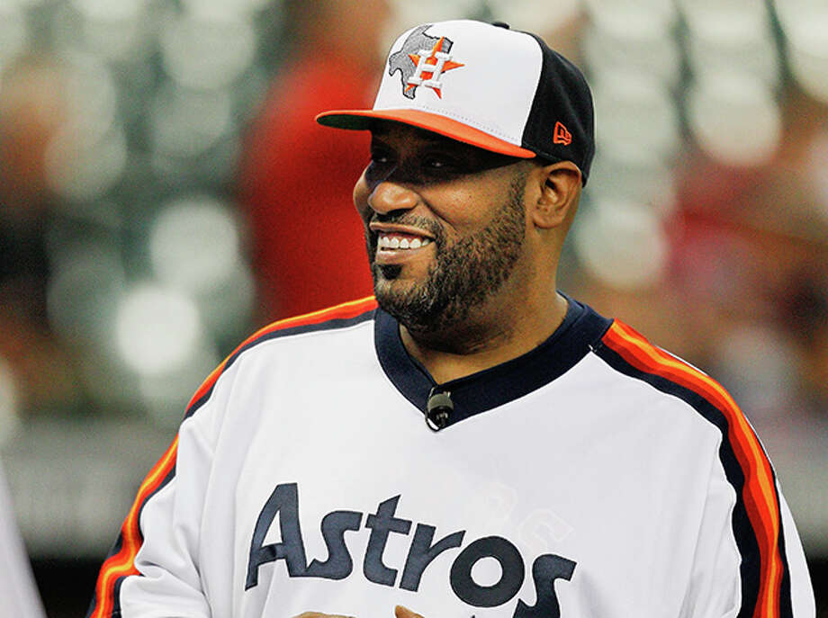 Houston rapper Bun B throws out first pitch at Minute Maid Park Photo: Bob Levey/Getty Images