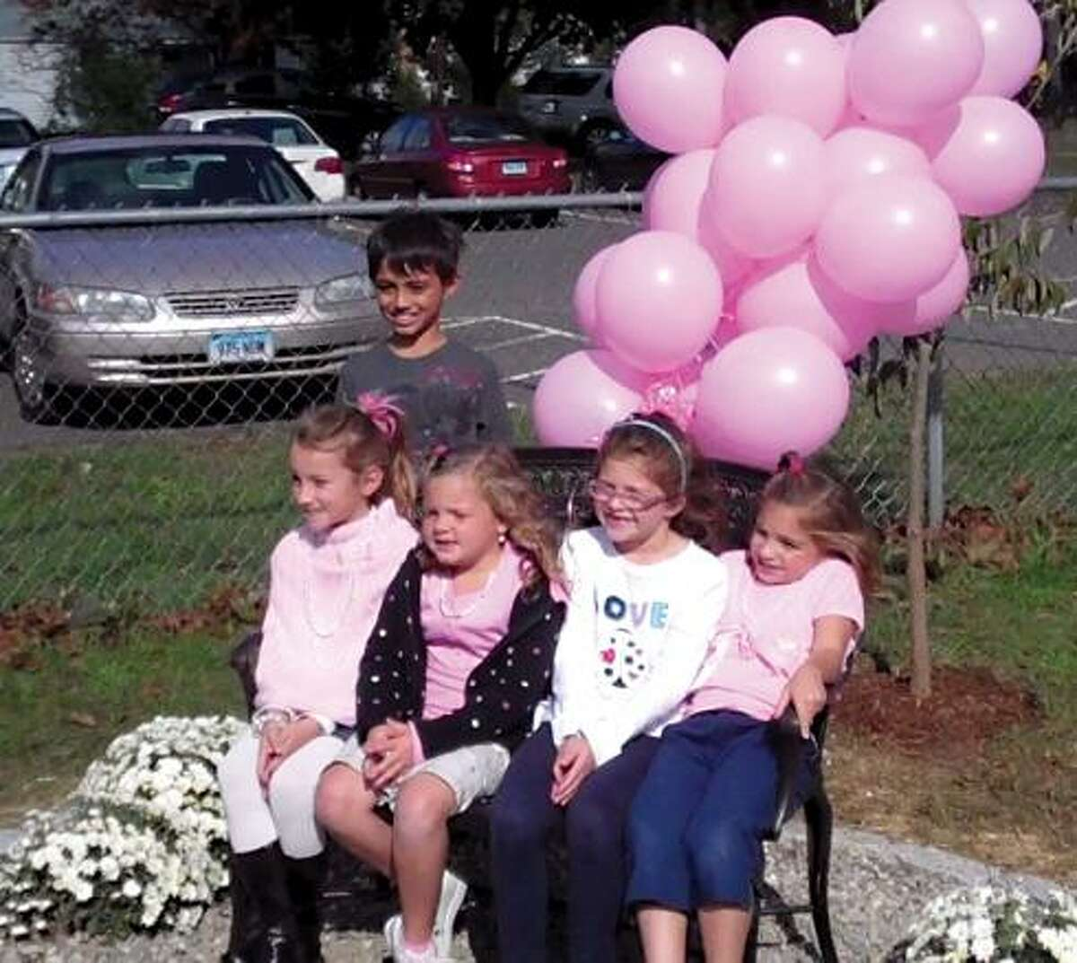 Five former students of Catherine Meacham, Tali Arce, Sadie Budzik, Erica Dewey, Monica Dewey, and Anna Sbriglio all spoke at the memorial ceremony in her honor at the Edna C. Stevens elementary school Thursday.