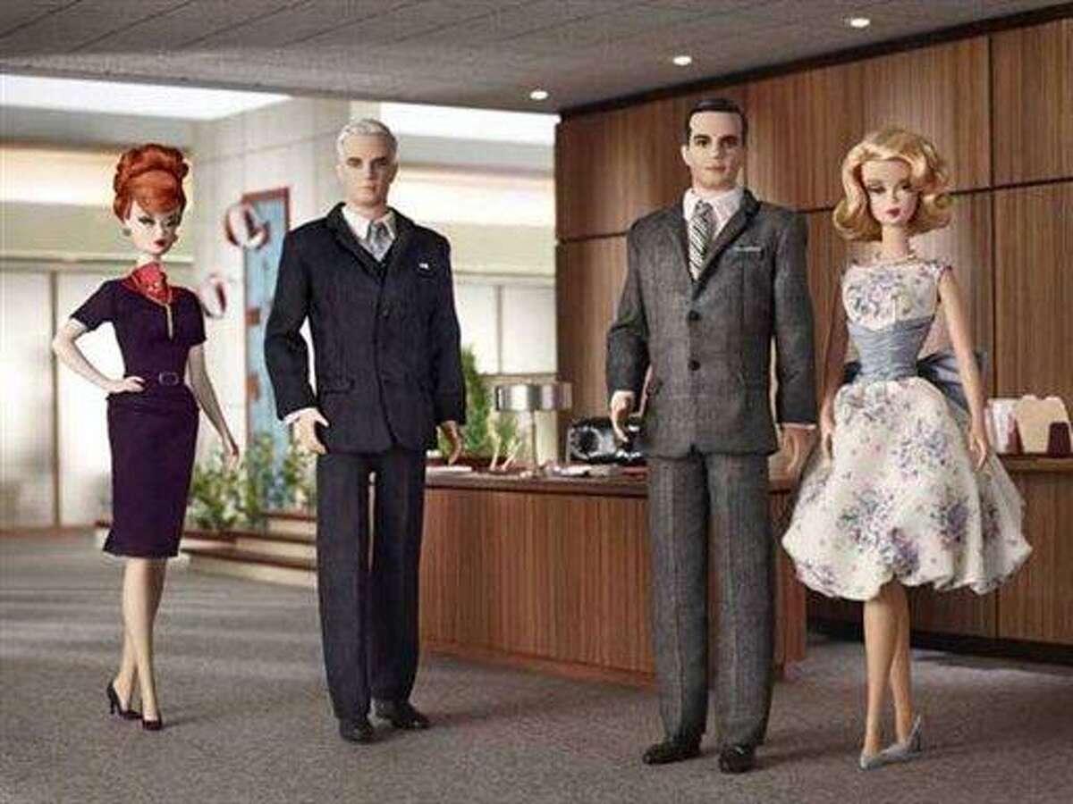 This product image released by Mattel, Inc., Lionsgate shows new Barbie dolls. (AP Photo/Mattel, Inc., Lionsgate) **NO SALES**