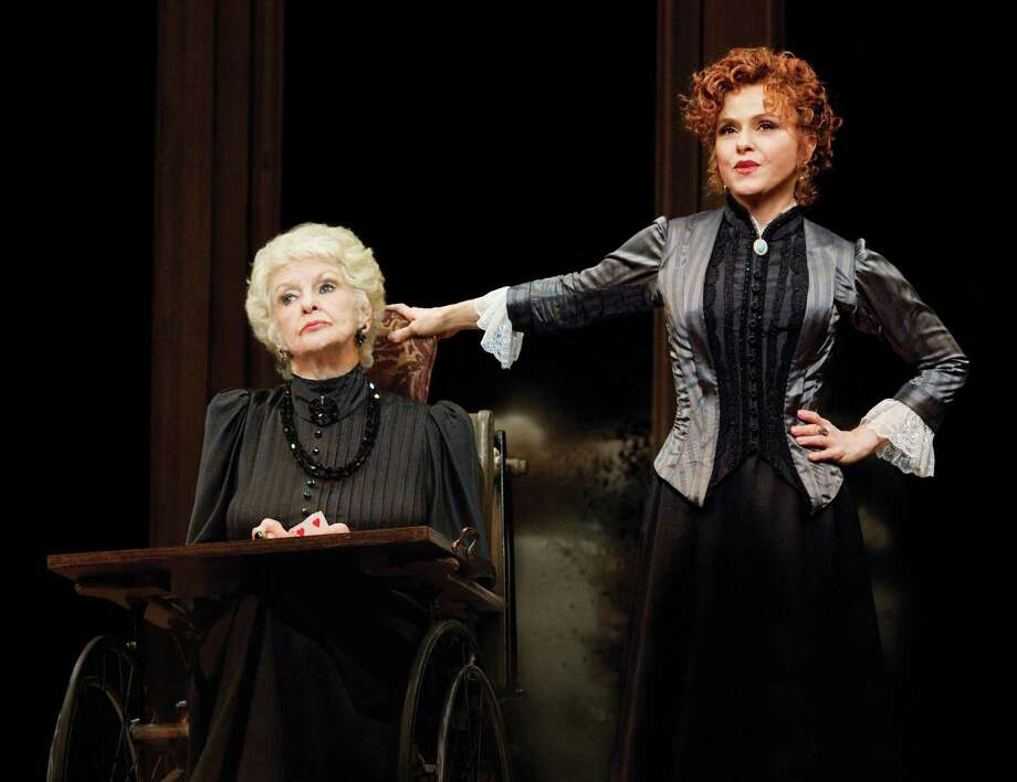 """In this theater publicity image released by Boneau/Bryan-Brown, Inc., Elaine Stritch, left, and Bernadette Peters are shown in a scene from """"A Little Night Music,"""" at the Walter Kerr Theatre in New York. (AP Photo/Boneau/Bryan-Brown, Inc., Joan Marcus) Photo: AP / ©2010, Joan Marcus"""