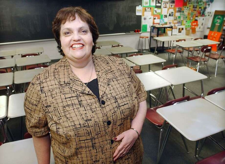 """East Hampton resident Nancy Briere has been appointed the new assistant principal of East Hampton Middle School. To buy a glossy print of this photo and more, visit <a href=""""http://www.middletownpress.com"""">www.middletownpress.com</a>. (Catherine Avalone"""