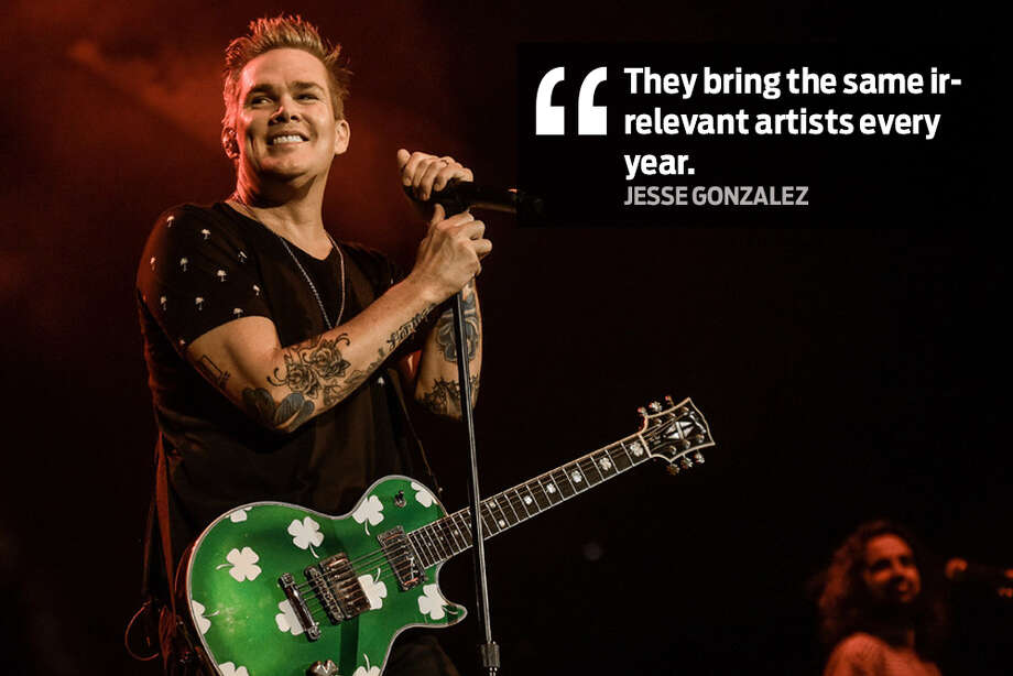"Jesse Gonzalez: ""They bring the same irrelevant artists ever year."" Photo: Facebook"