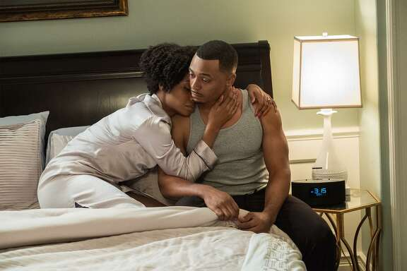 "Teyonah Parris plays Missy and RonReaco Lee is her husband, Reggie Vaughn, on the fourth season of ""Survivor's Remorse."""