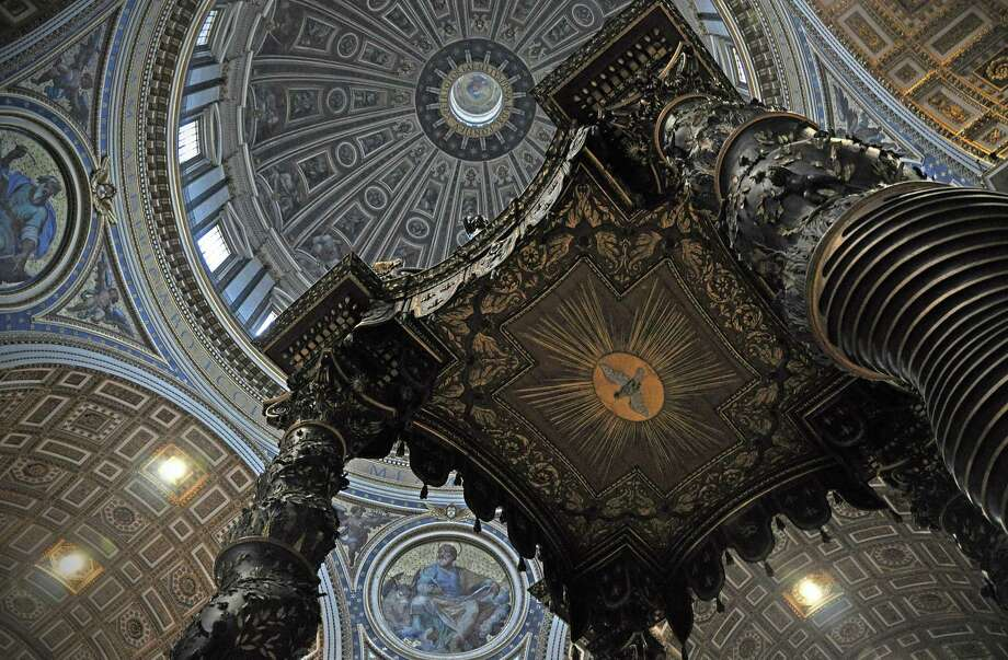 The Basilica of St. Peter's features a baldachin, or canopy over the Papal alter, designed by Gian Lorenzo Bernini, topic of Essex Library's next Centerbrook Architects Lecture.