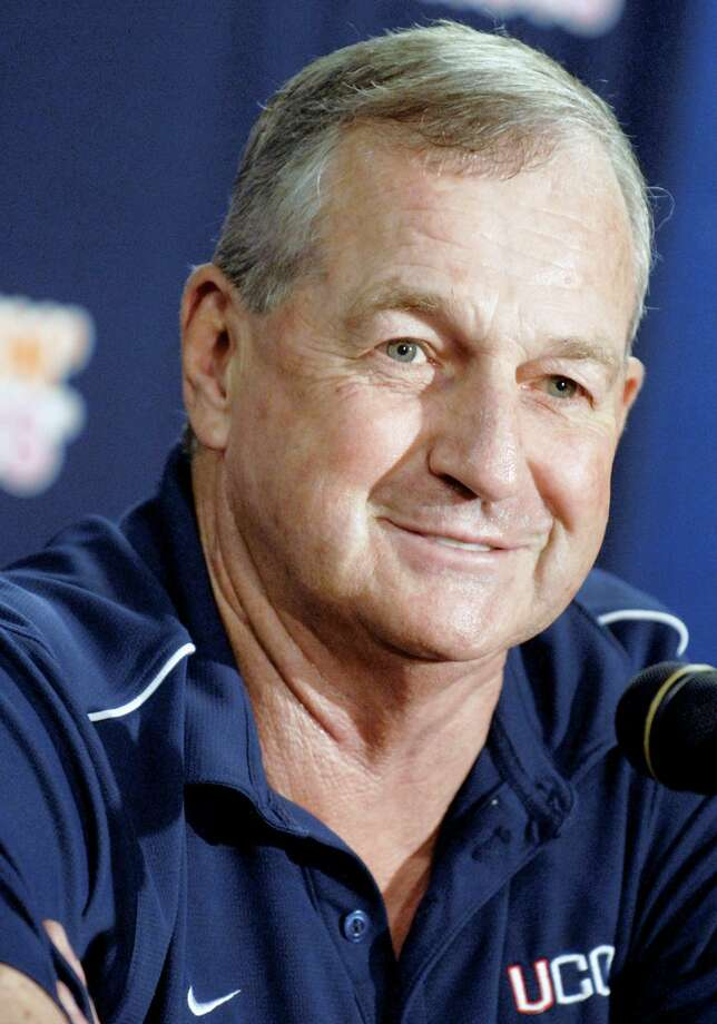 In this May 30, 2008, file photo, Connecticut head coach Jim Calhoun speaks during a news conference at the University of Connecticut in Storrs. (AP)