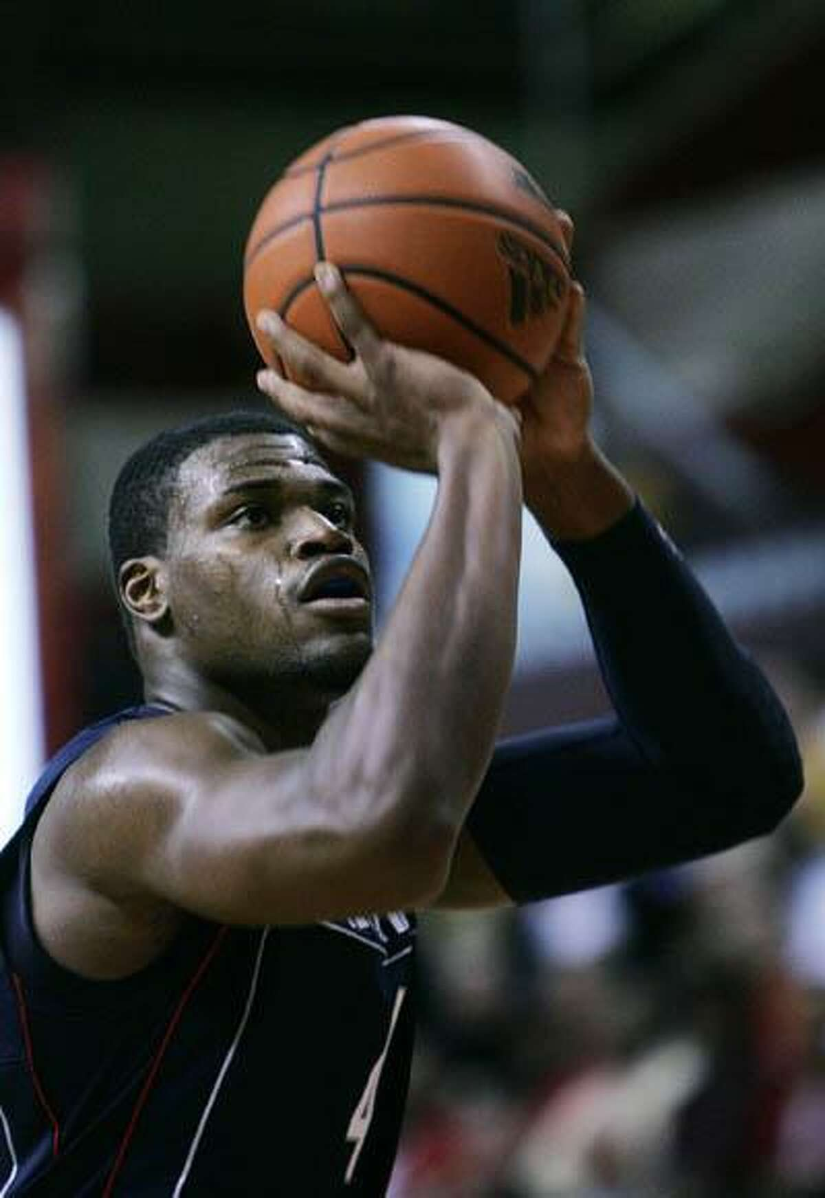 Former UConn men's basketball forward, Jeff Adrien, is hoping to catch on with a NBA team this fall. (AP)