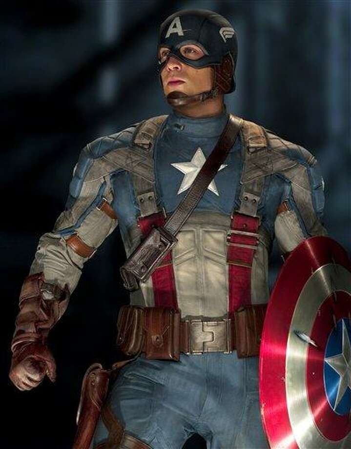 "In this film publicity image released by Paramount Pictures, Chris Evans is shown in a scene from the film ""Captain America: The First Avenger.""  (AP Photo/Paramount Pictures) Photo: ASSOCIATED PRESS / AP2010"