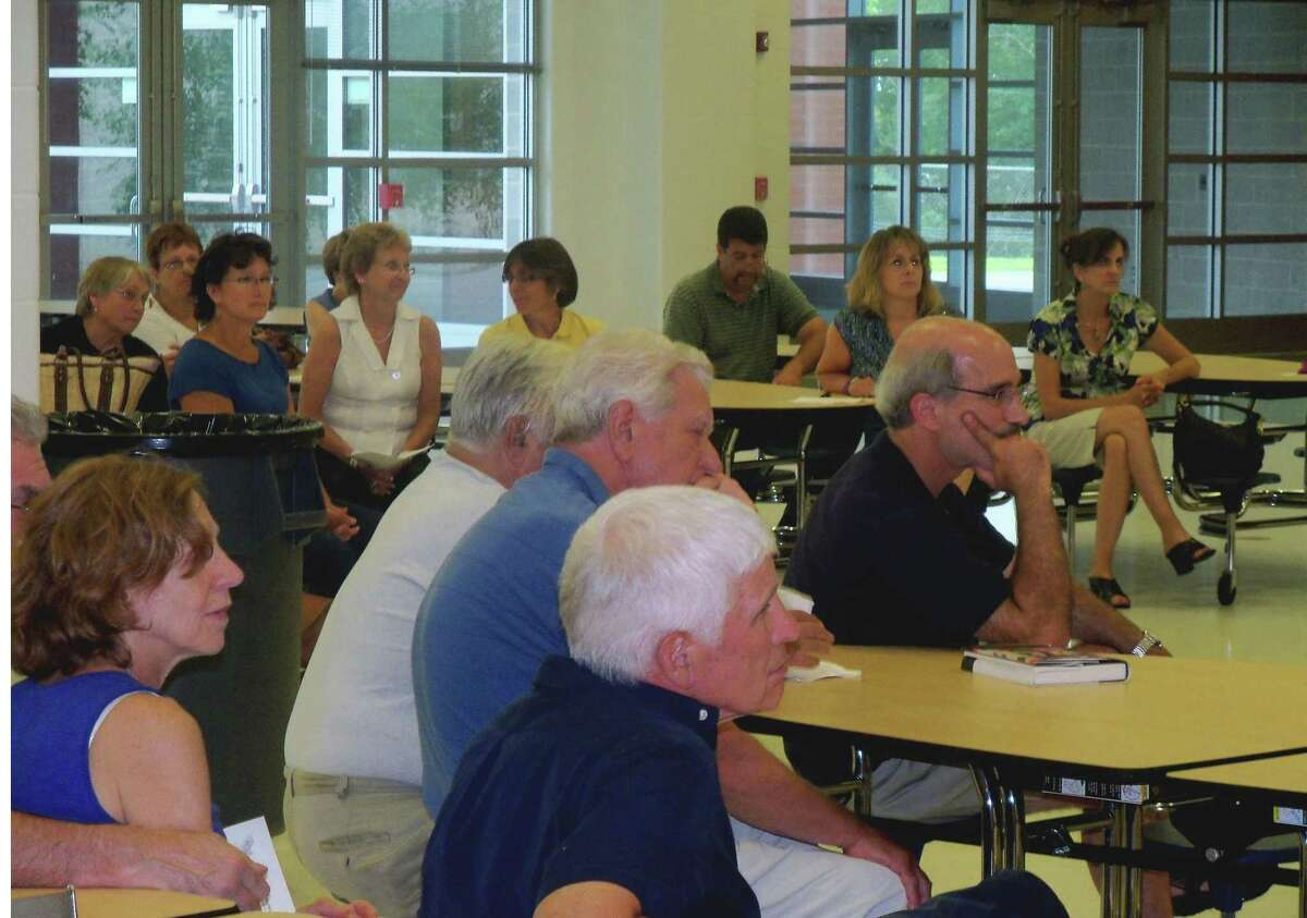 Killingworth Democrats gather at Haddam-Killingworth Middle School to nominate town members for public office.