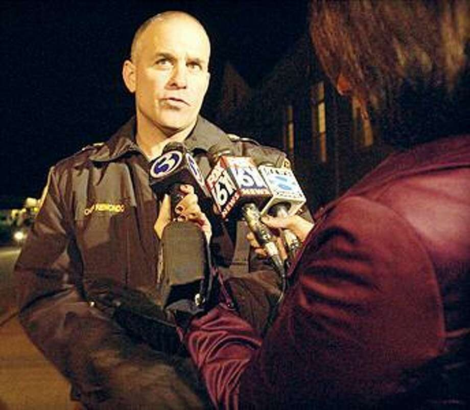 East Hampton Police Chief Matthew Reimondo is seen in a file photo from November 2008.