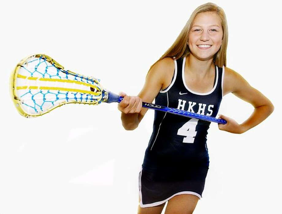Catherine Avalone/Middletown Press Haddam-Killingworth senior Emily Anderson looks to lead her team to a state championship this season. The Cougars lost in the state semi-finals to Fairfield Ludlowe. Anderson has committed to the University of Connecticut to play lacrosse.