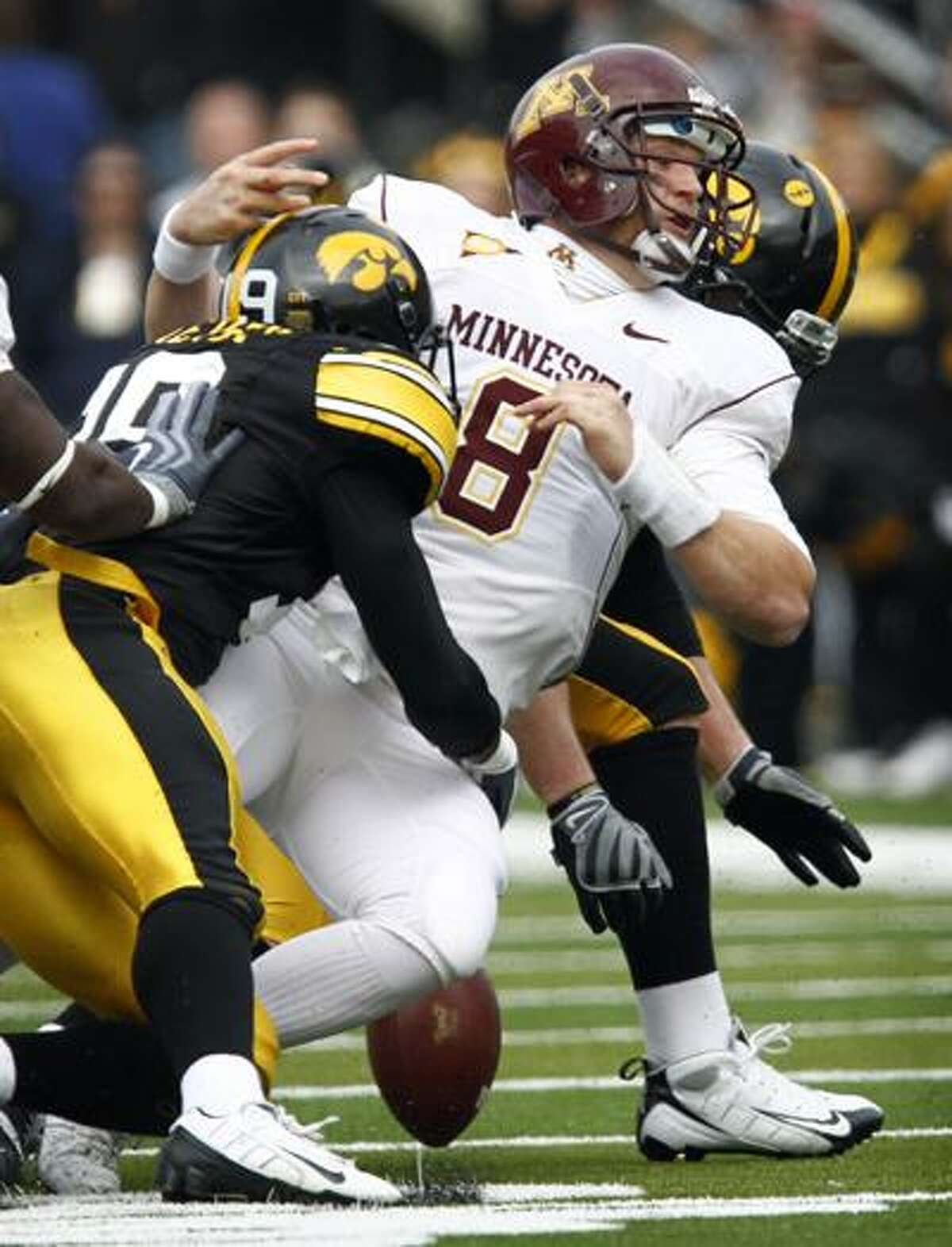 Former Xavier High School star and Iowa defensive back, Amari Spievey, was selected with the 66th overall pick in the third round by the Detroit Lions in the 2010 NFL draft. (Associated Press)