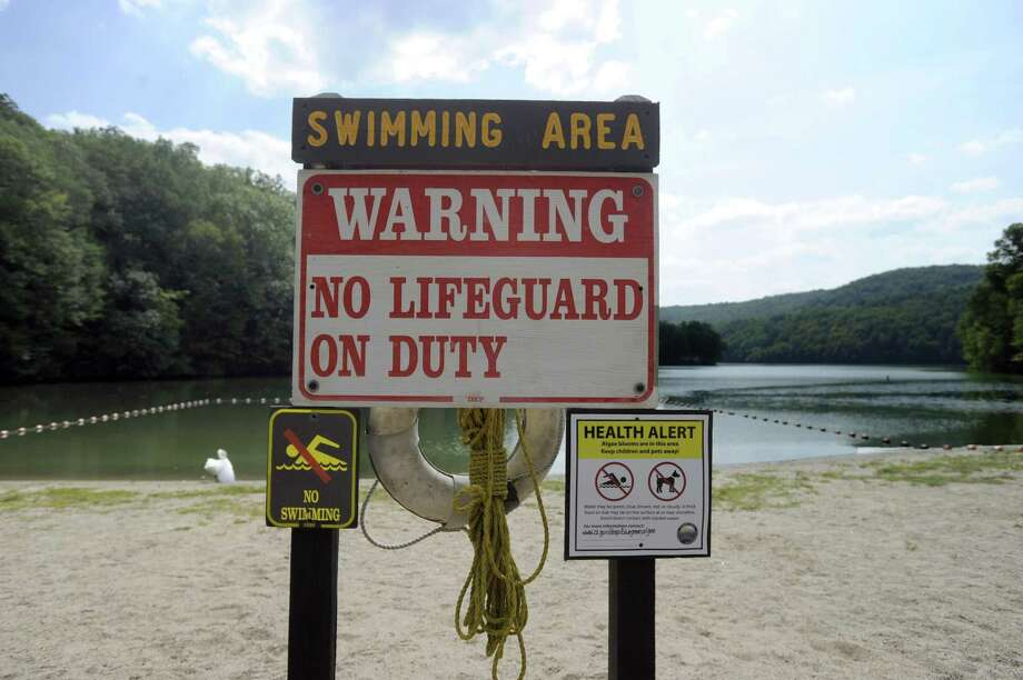 Kettletown State Park in Southbury is closed to swimming because of blue green algae blooms. Photo Wednesday, Sept. 2, 2015. Photo: Carol Kaliff / Hearst Connecticut Media / The News-Times