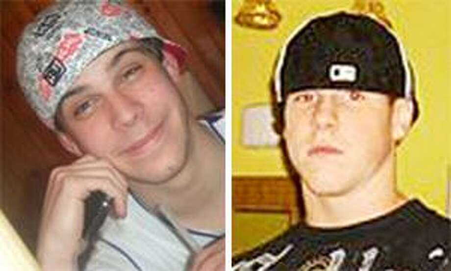 Ryan Weckesser, left, and Nathan Bushnell, right, both died after a car crash on Middlefield Street in Middletown Saturday.