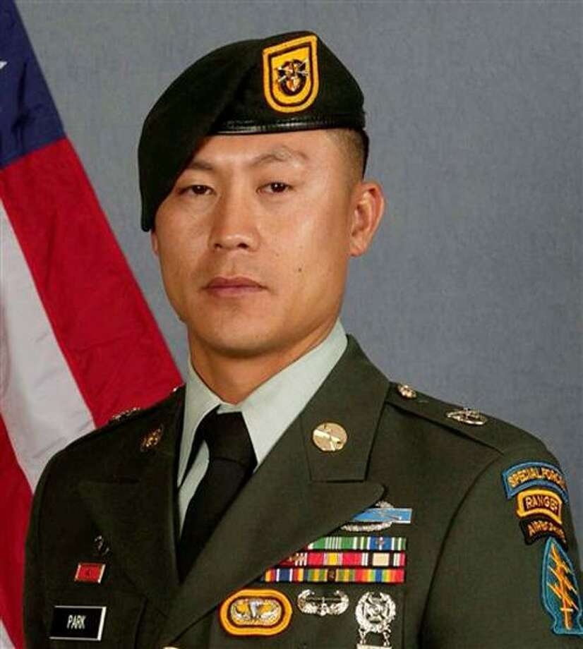 This undated photo posted on a U.S. Army media release website Monday, March 14, 2011, shows Sgt. 1st Class Daehan Park, a veteran Special Forces soldier originally from Watertown, Conn., and who lived in Lacey, Wash. Park was killed Saturday, March 12, 2011 when his vehicle was struck by an explosive device in Afghanistan. (AP Photo/U.S. Army) Photo: AP / U.S. ARMY