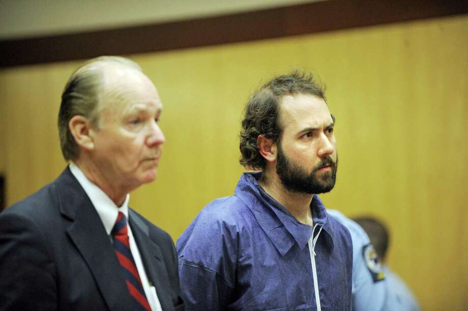 Stephen P. Morgan, right, and his attorney Richard Brown, listen to judge Mary-Margaret Burgdorff as she raises Morgan's bail to $15 million dollars during his arraignment in Middletown superior court in Middletown, Conn., on Friday, May 8, 2009. Morgan is charged with a single count of murder in the shooting death of Johanna Justin-Jinich, a 21-year-old Wesleyan University student. (AP Photo/Fred Beckham, pool) Photo: AP / AP Pool