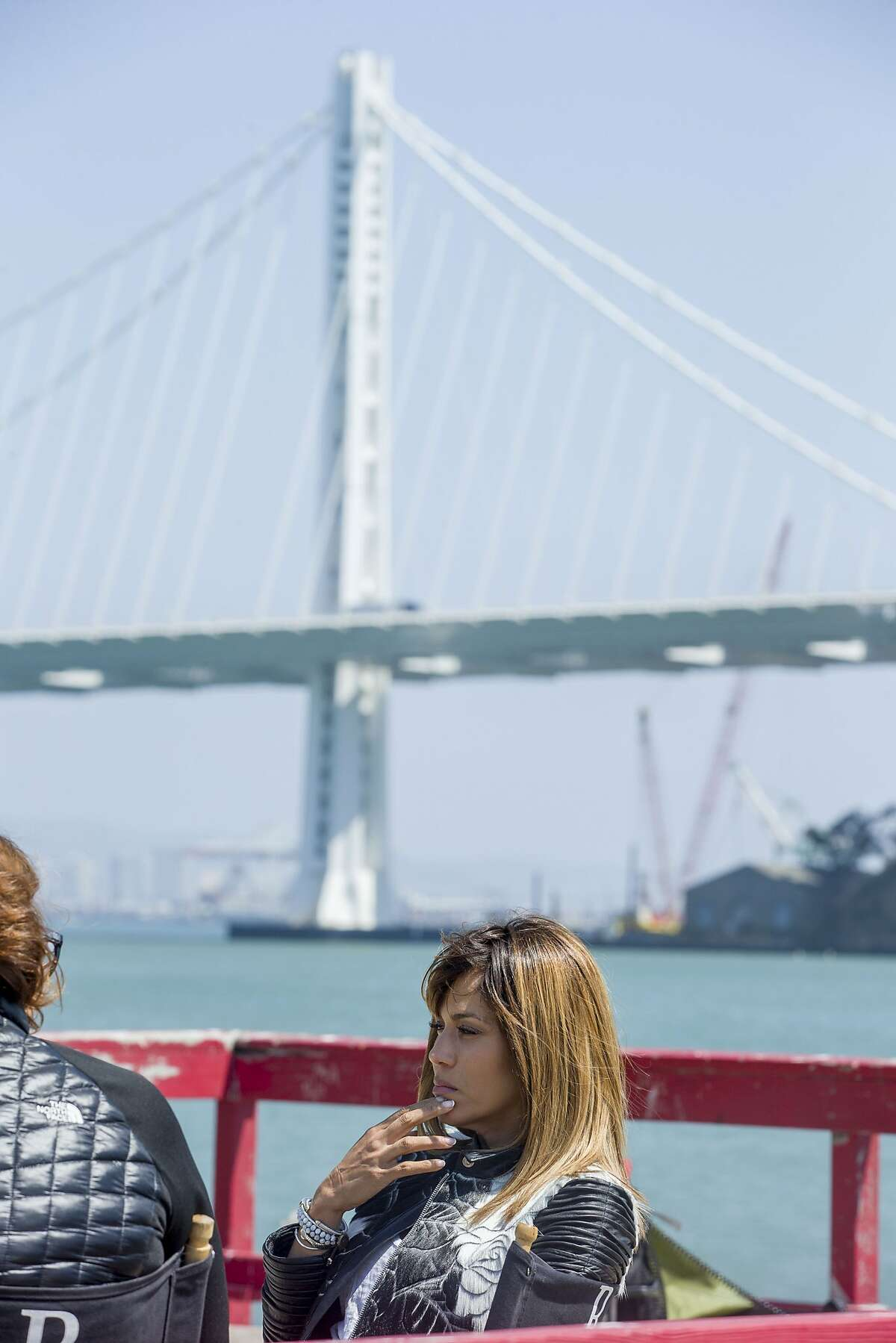 Nicole Ari Parker is interviewed on the set for the new movie HeadShop at Treasure Island on Wednesday, Aug. 16, 2017, in San Francisco, Calif. HeadShop is directed by Kim Bass and stars Nicole Ari Parker.