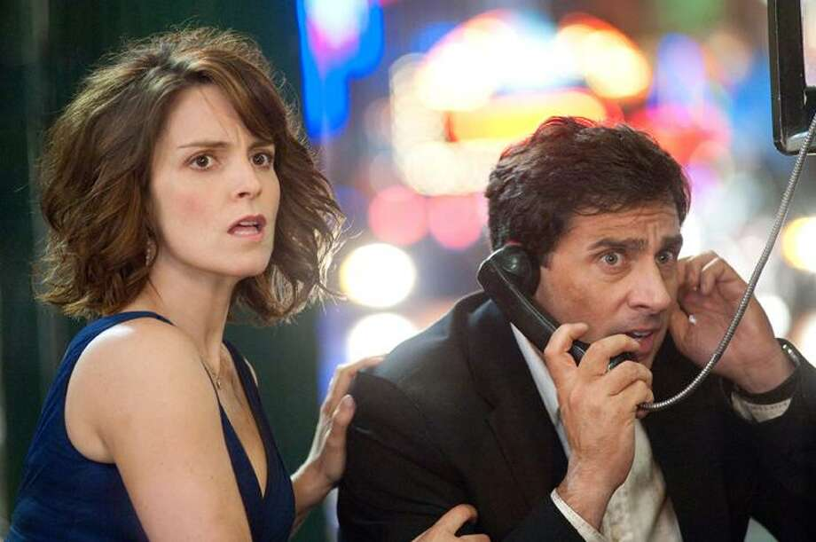 "In this publicity image released by 20th Century Fox, Tina Fey, left, and Steve Carell are shown in a scene from, ""Date Night."" (AP) Photo: AP / TM and © 2010 Twentieth Century Fox Film Corporation.  All rights reserved.  Not for sale or duplication."