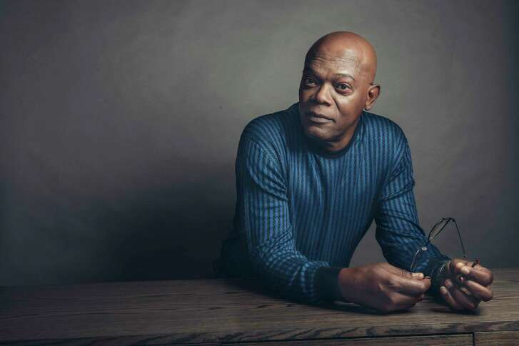 "In this April 20, 2017 photo, Samuel L. Jackson poses for a portrait in New York to promote his film, ""The Hitman's Bodyguard."" (Photo by Victoria Will/Invision/AP"