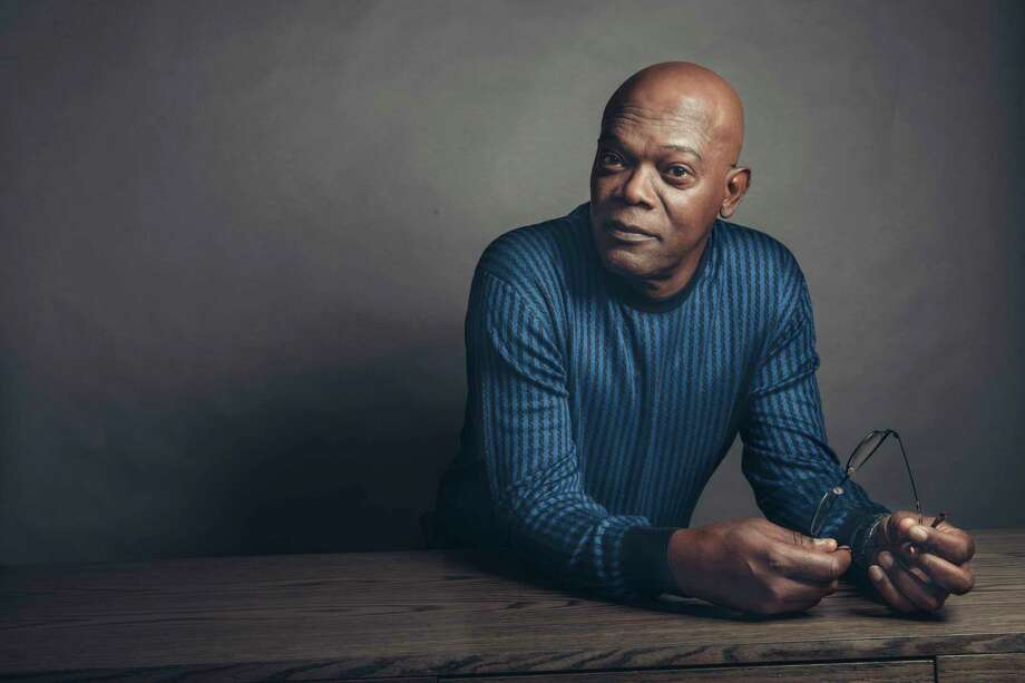 """In this April 20, 2017 photo, Samuel L. Jackson poses for a portrait in New York to promote his film, """"The Hitman's Bodyguard."""" (Photo by Victoria Will/Invision/AP Photo: Victoria Will, INVL / 2017 Invision"""