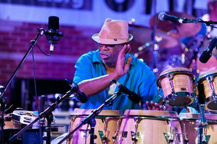 Percussionist Doc Gibbs performs at the 2010 Greater Hartford Festival of Jazz, which returns to Bushnell Park July 15-17. (Photo by Steve Sussman)