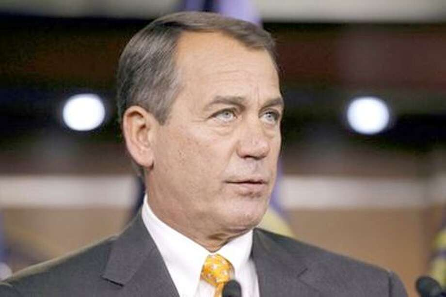 House speaker-in-waiting Rep. John Boehner, R-Ohio, talks to the media, after the elections, on Capitol Hill in Washington, Wednesday, Nov. 3, 2010. (AP Photo/Alex Brandon) Photo: AP / AP