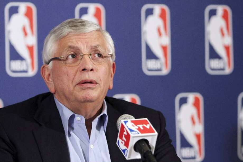 ASSOCIATED PRESS NBA commissioner David Stern speaks to reporters after a meeting with the players' union Thursday in New York. Despite a three-hour meeting Thursday, the sides could not close the enormous gap that remained in their positions. The lockout claimed its first casualty Friday when the free agency period didn't open.