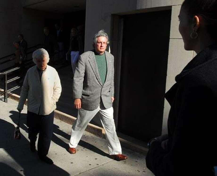 Dr. William Petit leaves Superior Court Monday afternoon. (Brad Horrigan/Register)