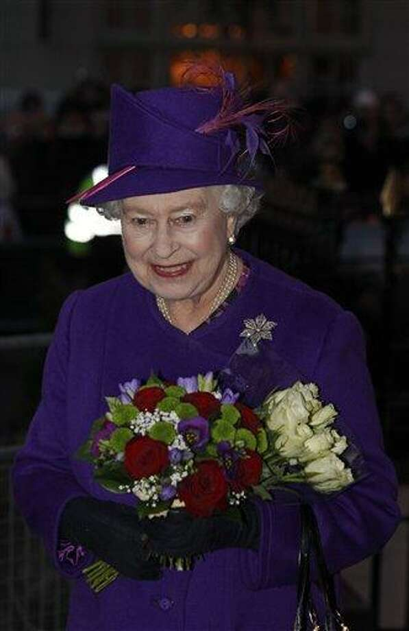 Britain's Queen Elizabeth II leaves following a visit Friday to the Windsor Museum, in Windsor, England. Associated Press Photo: AP / AP Pool