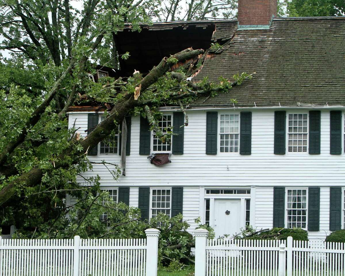 Photo by Sandy Aldieri/Press Correspondent Irene destroys a house in Middletown