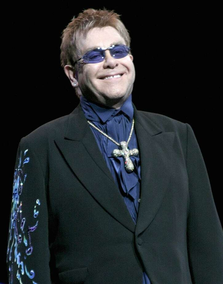 "Singer, songwriter, composer and pianist.Sir Elton Hercules John is shown performing on stage during a ""live"" concert appearance. Elton John and his band will perform ""live"" in concert at the Mohegan Sun Arena in Uncasville on Friday night March 11th. Photo: John Atashian / John Atashian"