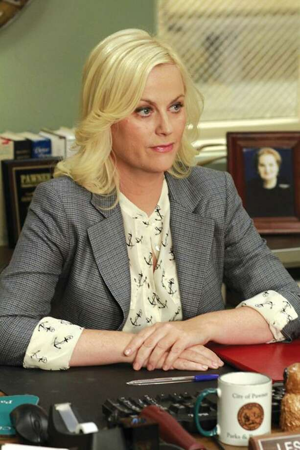 "Unable to get work done from inside the Parks Department, Leslie (Amy Poehler) forms a citizen action group and fights from the outside on ""Parks and Recreation"" at 8:30 p.m. on NBC. Photo: Ron Tom/NBC / © NBCUniversal, Inc."