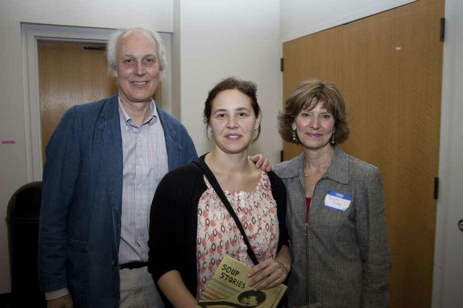 St. Vincent de Paul Place Director Ron Krom, MxCC student Natalie Marynczak, and MxCC Human Services Professor Judith Felton.