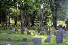 Some of the headstones at the Noroton River Cemetery in Darien, Conn. on Aug. 10, 2017.