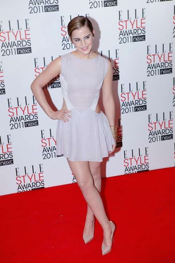 In this February 14, 2011, file photo, British actress Emma Watson arrives at The Elle Style Awards at The Grand Connaught in London. AP Photo/Paul Jeffers Photo: ASSOCIATED PRESS / AP2011