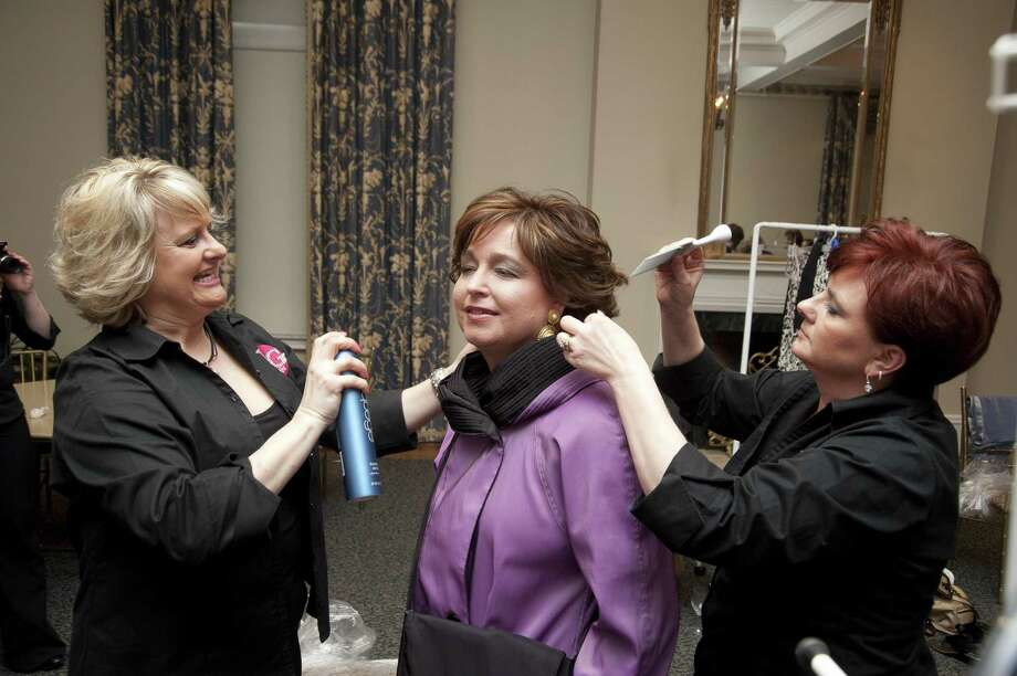 Photos by John Giammatteo/Special to the Press Clothing, hair, makeup, silent auction items, entertainment and time were all donated so 10 female cancer survivors could feel like stars during the first Project Pink fashion show last week at the Wadsworth Mansion in Middletown. Photo: John Giammatteo / ©John Giammatteo 2011