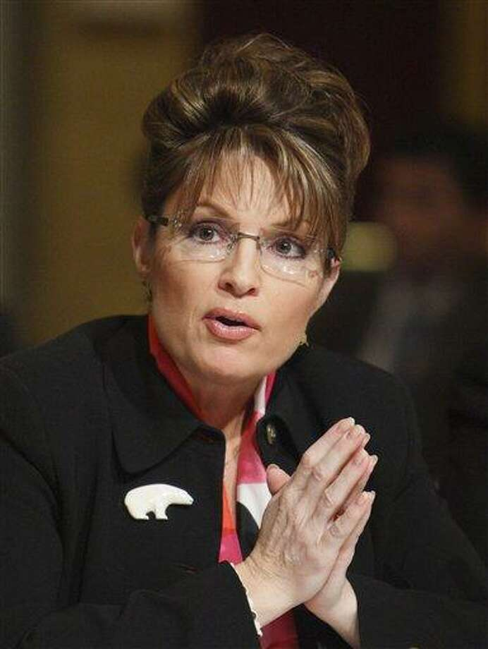 In this Feb. 24, 2008 file photo,  Alaska Gov. Sarah Palin speaks in Washington. (AP Photo/Charles Dharapak, File) Photo: AP / 2008 AP