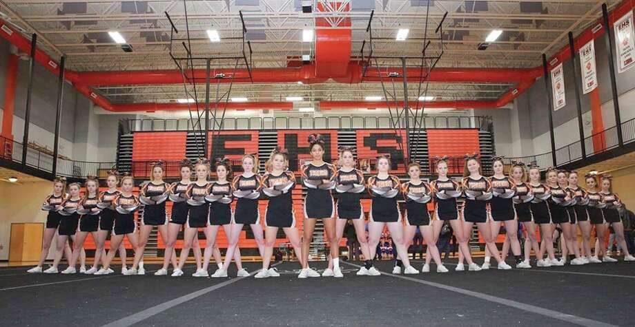 The EHS cheerleading squad. Photo: For The Intelligencer